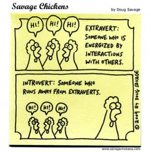 introvert/ extrovert